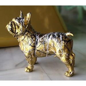 Escultura del artista Arte by Leyton - Gold and lines