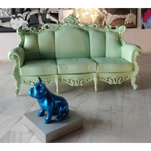 Pintura del artista Arte by Leyton - Green Sofa