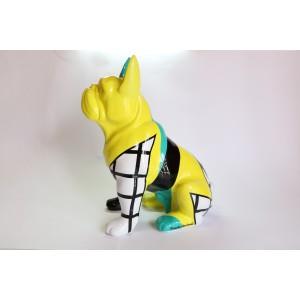 Escultura del artista Arte by Leyton - Black&Yellow dog
