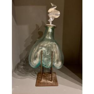 Sculpture - Jarro de cristal con tapón de aluminio