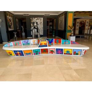 Art Design - Banco tributo a Keith Haring