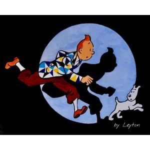 Painting from Curro Leyton - Tintin en Marbella