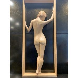 Sculpture - Framed female nude