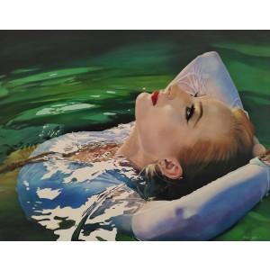Pintura del artista Penélope Andrés - Ophelia