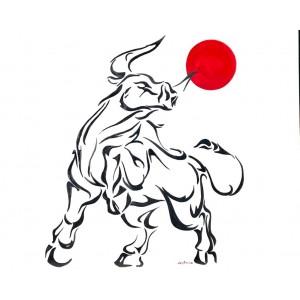 Painting - White Bull